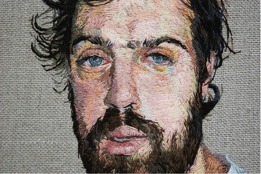 Impresionantes retratos bordados
